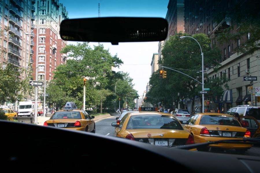 driving into Manhattan