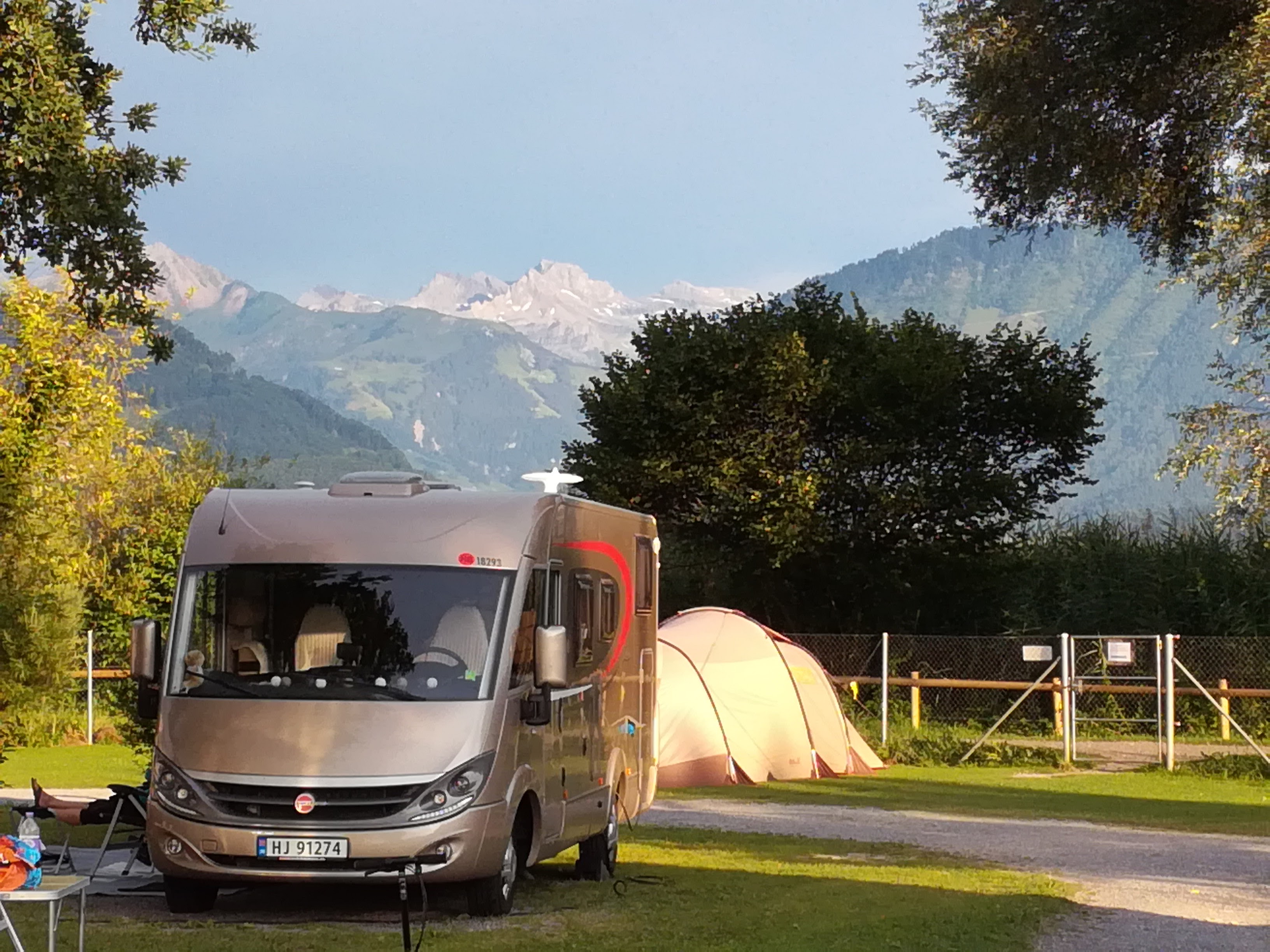 Horw camping - vue